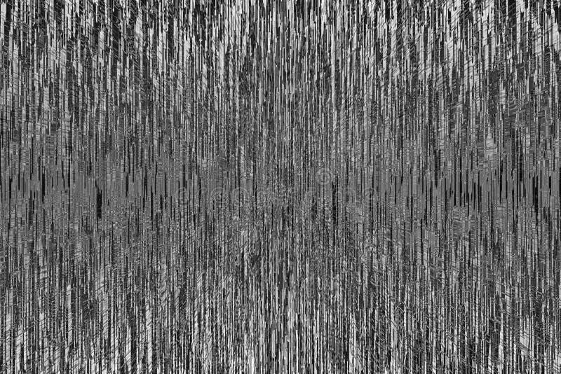 Monokrom tekniskt felbakgrund Abstrakta svartvita linjer PIXEL som sorterar textur vektor illustrationer