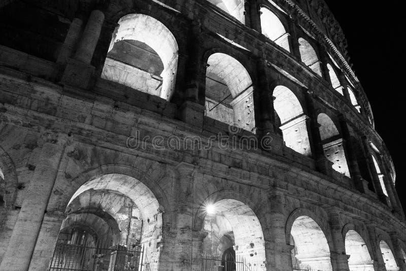 Monokromma Colosseum Roma royaltyfri bild