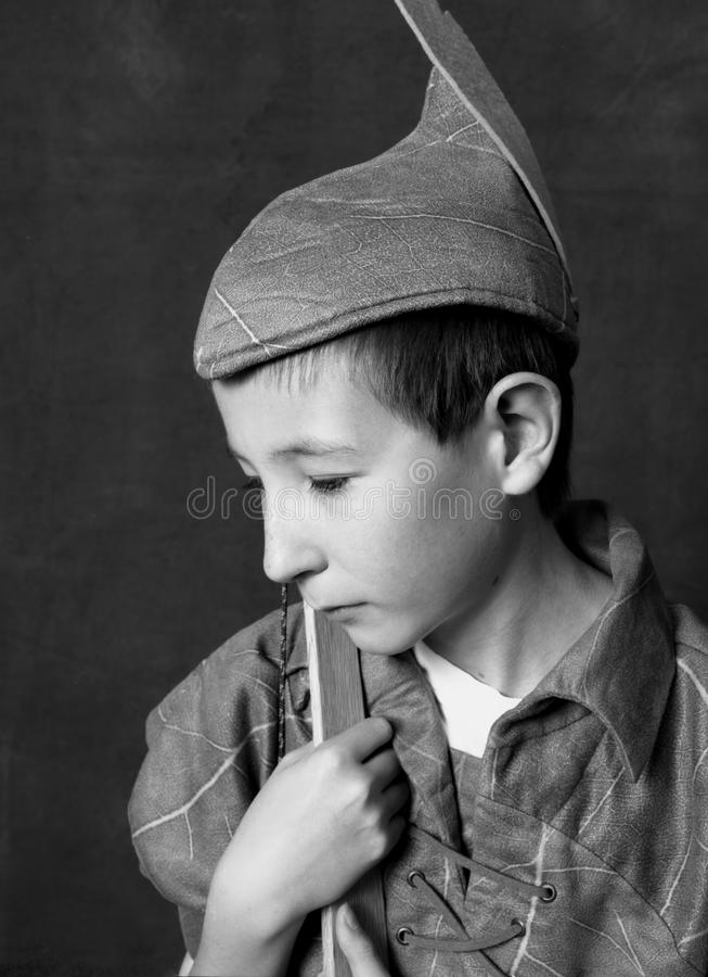 Unga Robin Hood royaltyfri fotografi