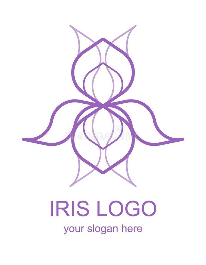 Monolijn Iris Logotype royalty-vrije illustratie