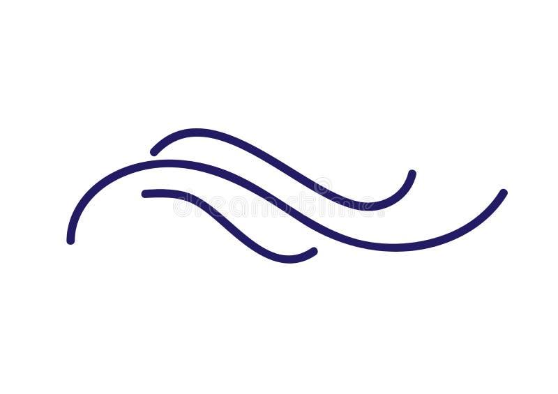 Monoline kaligrafii zawijasa wektoru scandinavian ludowy divider Projektuje element dla poślubiać i walentynka dnia, urodziny ilustracja wektor