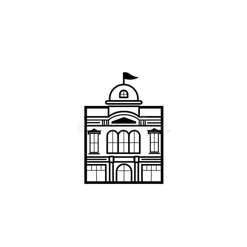 Monoline klassiker lyxiga Real Estate, byggnad och investering Logo Vector Design - vektor vektor illustrationer