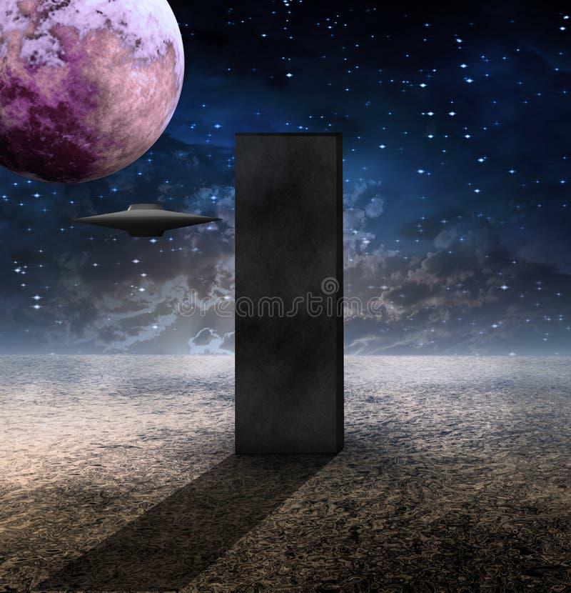 Download Monolith stock illustration. Image of alien, design, dust - 13504168