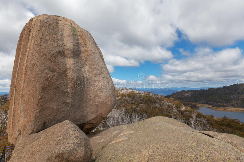 The Monolith - huge rock at Mount Buffalo National Park stock photography