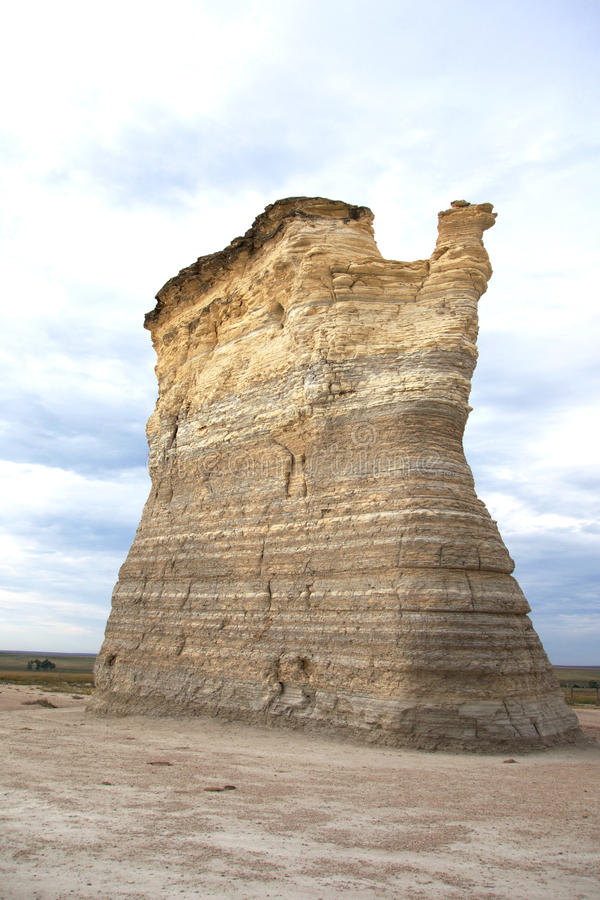 Monolith of Monument Rocks royalty free stock photo