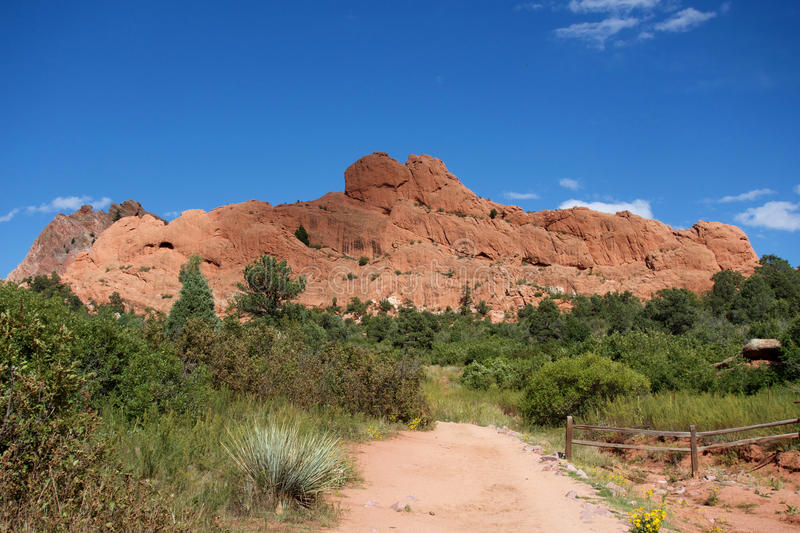 Monolith Wall in Garden of the Gods royalty free stock photography