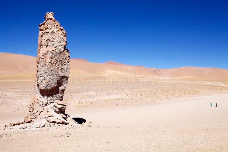 Monolithe géologique près de Salar le Tara, Chili photo libre de droits