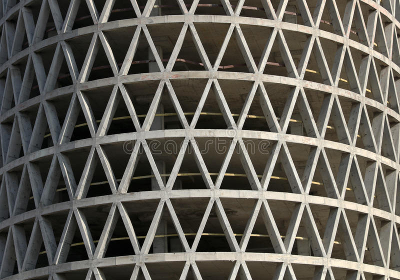 Monolithic concrete residential building royalty free stock photo