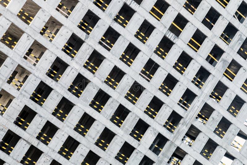 Monolithisch concreet kader van het nieuwe gebouw royalty-vrije stock foto's