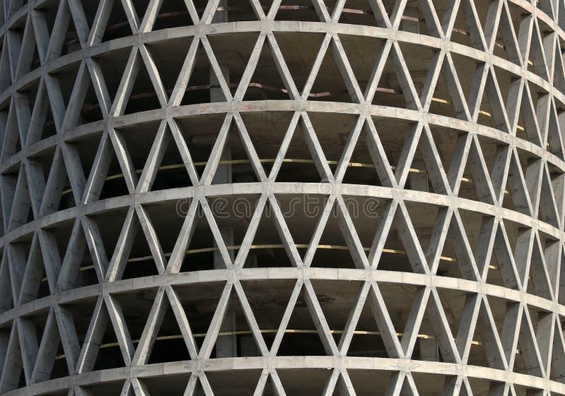 Monolitisk konkret bostads- byggnad royaltyfri foto