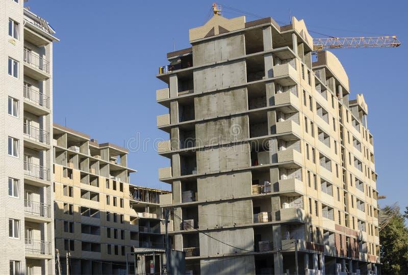 Monolitiska betonghus för grupp fotografering för bildbyråer