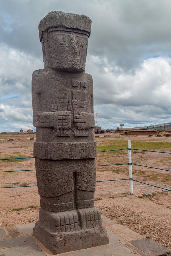 Monolito en Tiwanaku imágenes de archivo libres de regalías