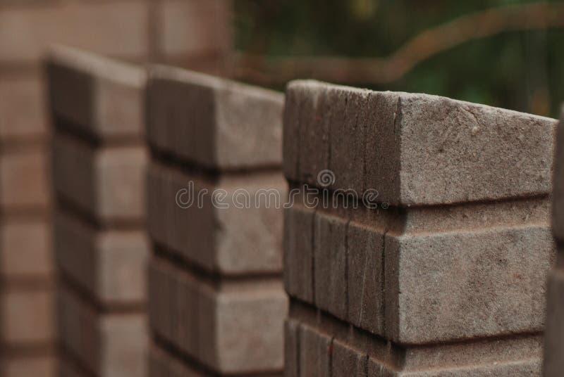 Monolitowe cegły w powtórce zdjęcia royalty free