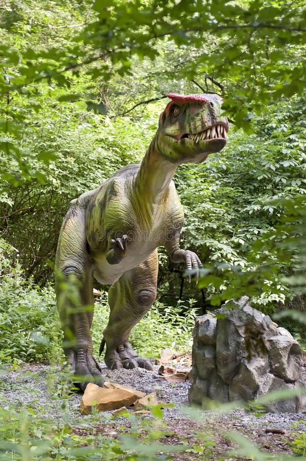 monolofozaur динозавра стоковые фото