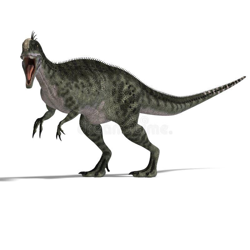 monolophosaurus δεινοσαύρων απεικόνιση αποθεμάτων
