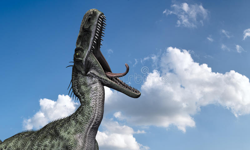 Monolophosaurus royalty ilustracja