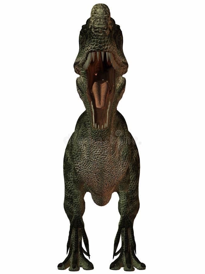 Monolophosaurus-3D Dinosaur Royalty Free Stock Images