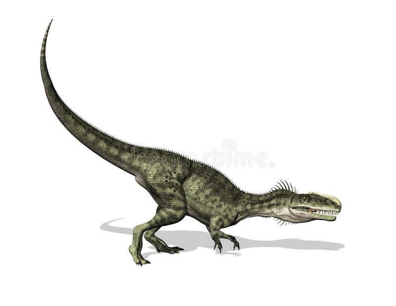 Monolophosaurus dinosaur ilustracji