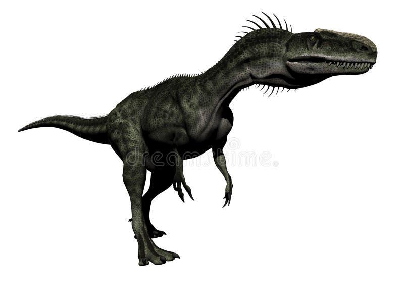 Monolophosaurus dinosaur - 3d render stock illustration