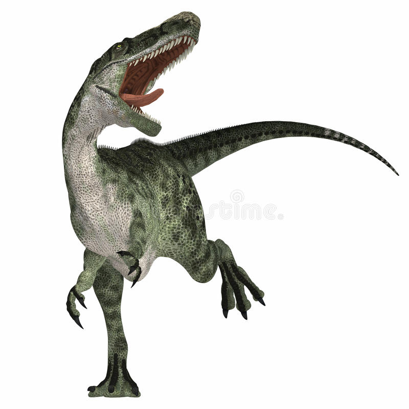 Monolophosaurus na bielu royalty ilustracja