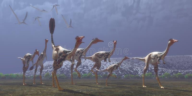 Mononykus-Dinosaurier stockbilder