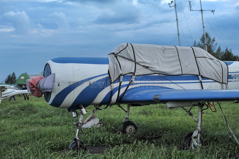 monoplane fotografia stock libera da diritti