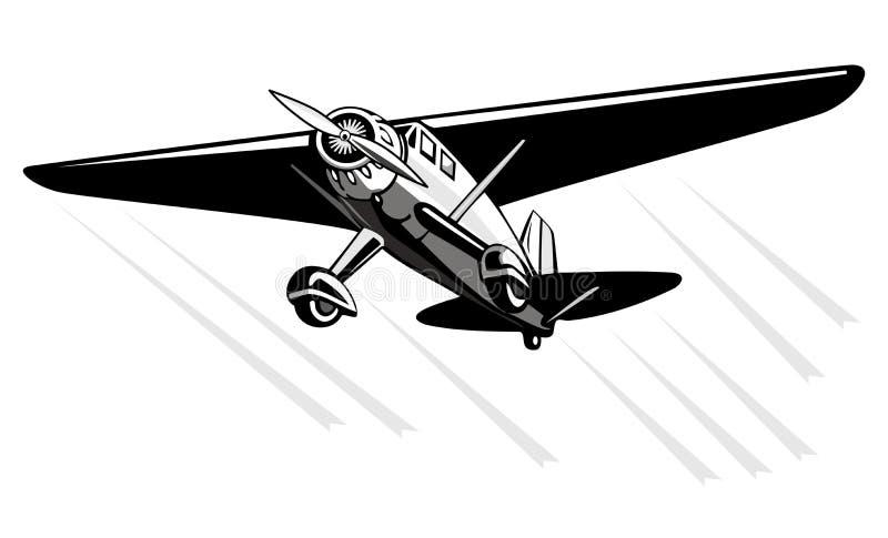 Monoplane de Fairchild ilustração royalty free