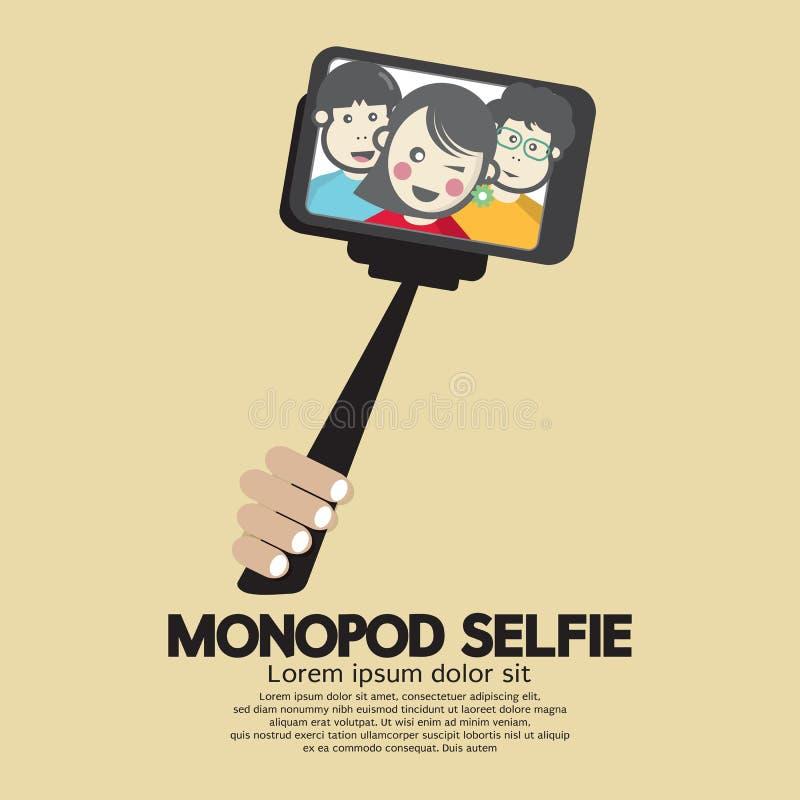 Monopod Selfie为智能手机的自画象工具 库存例证