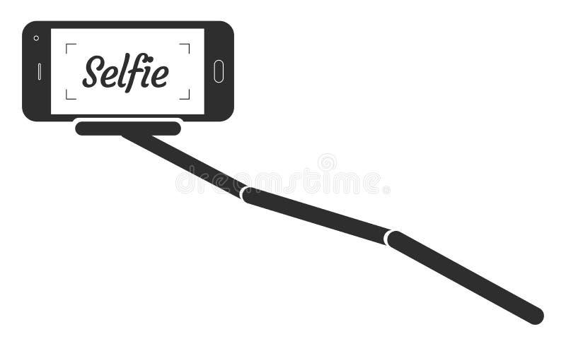 Monopod Selfie画象智能手机App传染媒介例证 向量例证