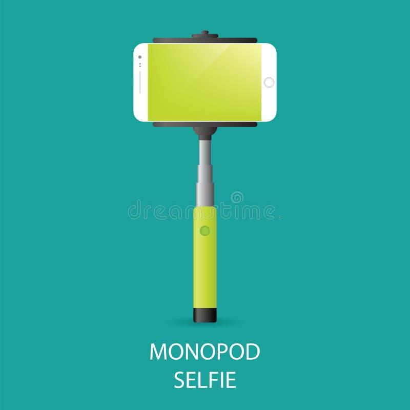Monopod Selfie 库存例证