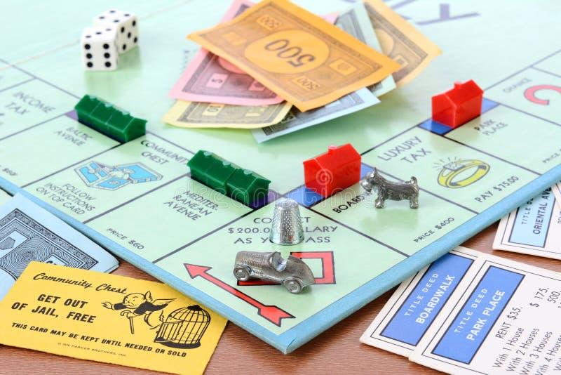 Monopol-Brettspiel stockfotos