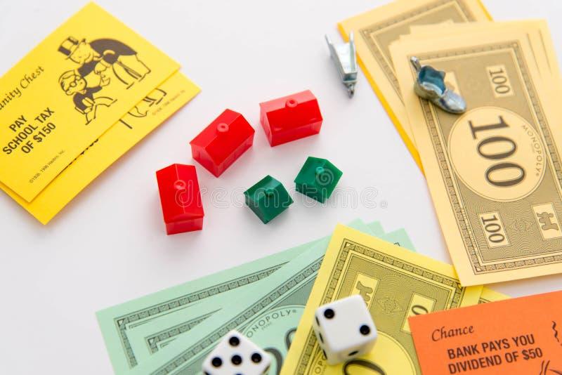 MonopolBrettspiel im Spiel stockfoto