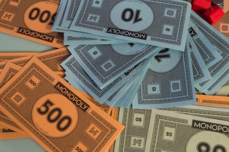 Monopolgeldabschluß herauf Detail lizenzfreie stockfotografie