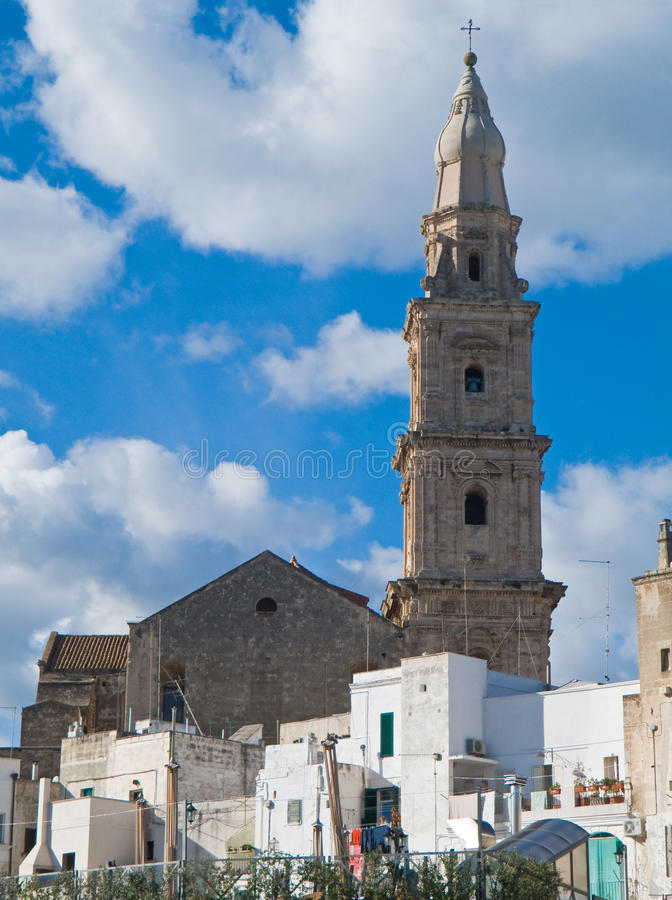 Monopoli Cathedral. Apulia. stock photography