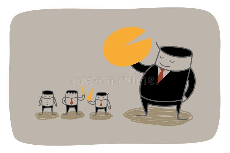 Monopolio del hombre de negocios libre illustration