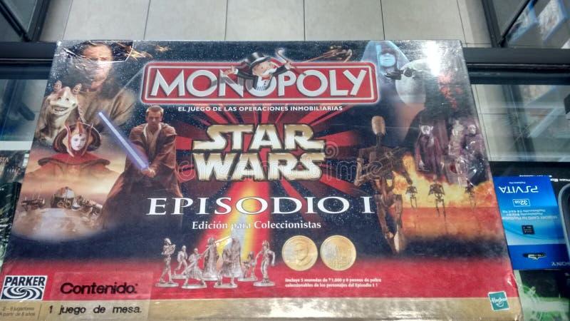 Monopolio Star Wars Episodio 1 immagine stock libera da diritti
