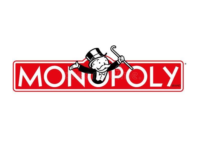 Monopolu logo ilustracja wektor