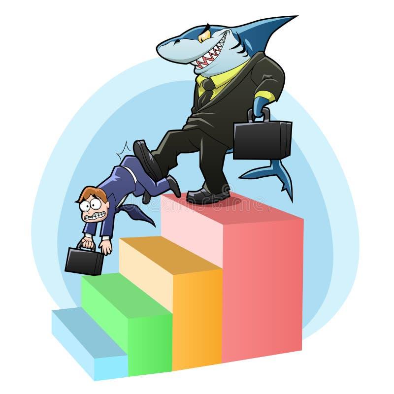 Monopolu rekin royalty ilustracja
