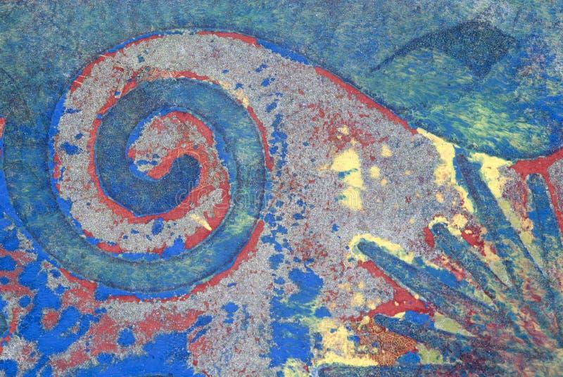 Monoprint abstracto de acrílico imagen de archivo libre de regalías