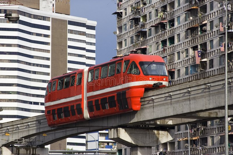 Monorail photo libre de droits