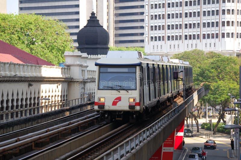 Monorail de Kuala Lumpur images stock