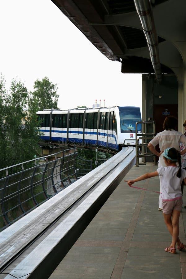 Monorail de Moscou photographie stock