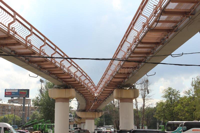 Monorail de Moscou photos stock