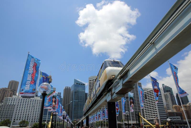 Monorail de Sydney photo libre de droits