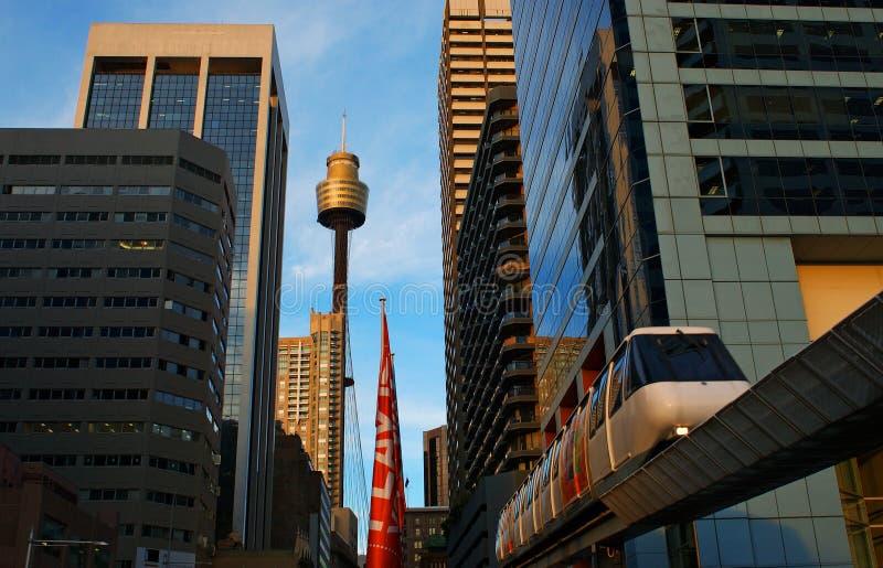 Monorail de ville de Sydney image libre de droits