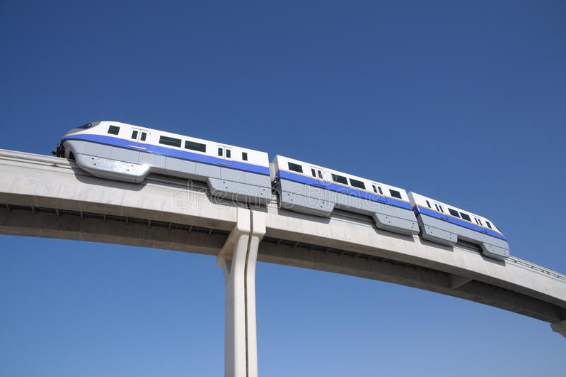 Monorail in Doubai stock foto's