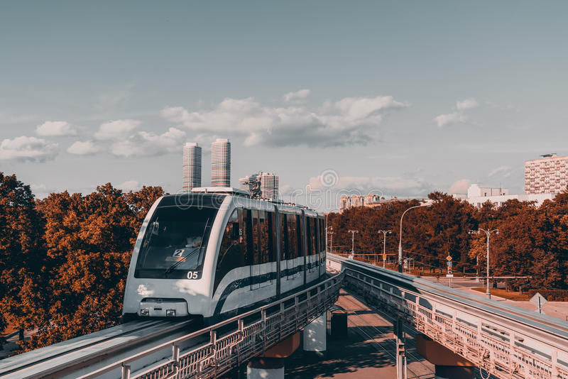 Monorail high-speed train stock photography