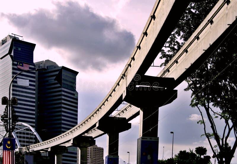 Monorail in Kuala Lumpur royalty-vrije stock fotografie