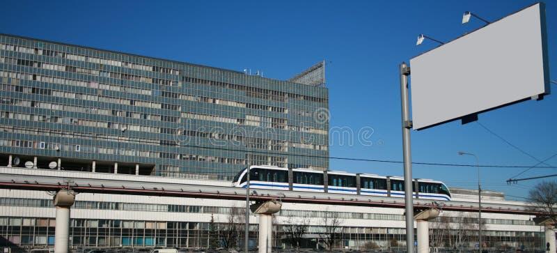 monorail långt royaltyfri bild