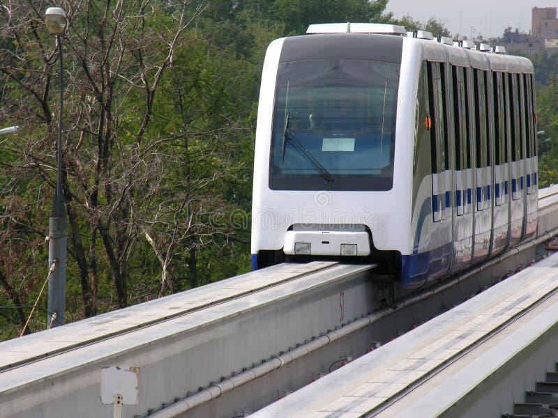 monorail moscow royaltyfri foto